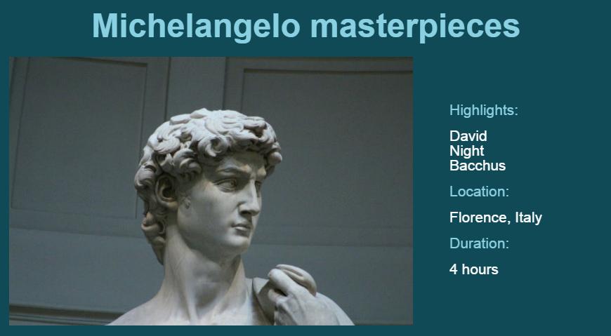 Michelangelo masterpieces